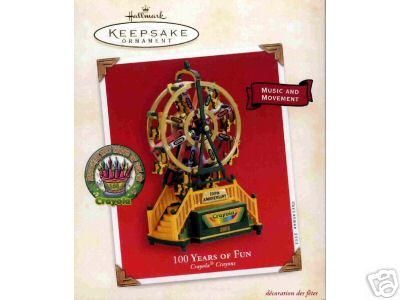 CRAYOLA Ferris Wheel - 100 years of Fun- Hallmark 2003 Christmas Ornament