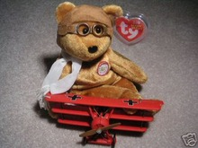 RARE!! Ty BROWN BEARON Baron Beanie Baby Bear