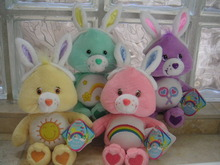 4 EASTER Bears CARE BEAR Bunnies 8