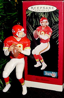 Hallmark JOE MONTANA Kansas City Chiefs FOOTBALL 1995 Ornament