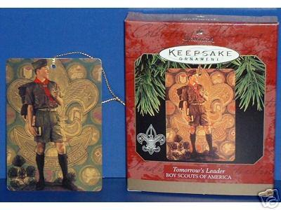 BOY SCOUTS Hallmark Ornament TOMORROW's LEADER 1997