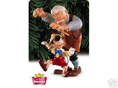 Hallmark 1999 Disney's PINOCCHIO & GEPPETTO Keepsake Ornament