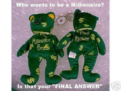Millionaire Bear- Celebrity Bears