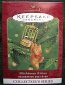 MISCHIEVOUS KITTENS Hallmark Ornament #2 in series 2000