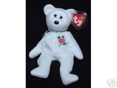 Ty ROSE Beanie Baby Bear UK Exclusive