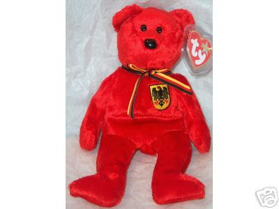GRAF VON ROT Ty Beanie Baby German Exclusive Bear Germany