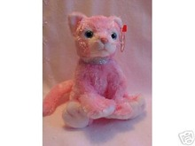 Ty CARNATION Beanie Baby Pink Cat~Mint/Mint Tags