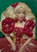 3-D Holiday Barbie Doll(1993 #1 Holiday Barbie) Hallmark Pin 1995 New