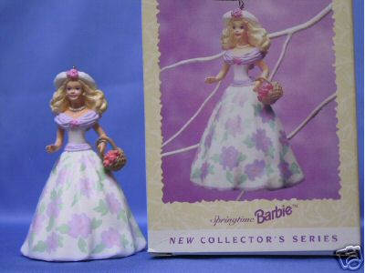 SPRINGTIME BARBIE #1 in series~ Hallmark EASTER Spring Ornament 1995