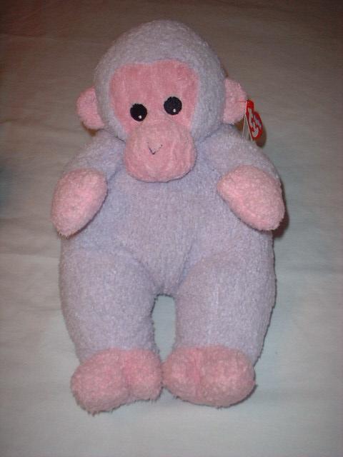 TY Beanie Baby Plush Pillow Pal MONKEYBABY Monkey~NEW