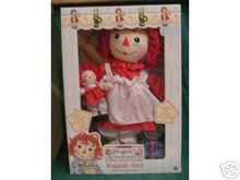 RAGGEDY ANN HOLIDAY Christmas Doll w/ mini Ann Doll + Ornament~Limited Edition