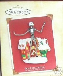 JACK SKELLINGTON~NIGHTMARE BEFORE CHRISTMAS Hallmark Ornament 2004 Disney NEW!