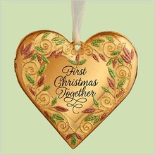 FIRST CHRISTMAS TOGETHER Photo Holder Hallmark 2004 Ornament