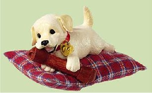 PUPPY LOVE Labrador-Golden Lab Retriever #14 Hallmark Christmas Ornament 2004