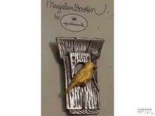 Marjolein Bastin BIRDHOUSE PIN Pewter Hallmark
