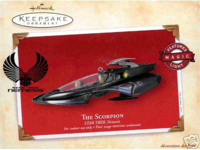 SCORPION Star Trek NEMESIS 2003 Hallmark Ornament