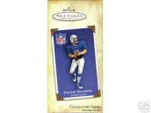 2004 Hallmark PEYTON MANNING Colts FOOTBALL LEGENDS Christmas Ornament