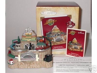 LIONELVILLE Magic Light, Motion & Sound Hallmark LIONEL 2004 Ornament