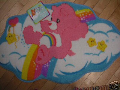 Care Bears BATH MAT/RUG New w/ Tags CHEER Bear &Rainbow