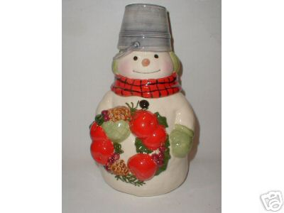 MITFORD SNOWMAN Cookie Jar by Hallmark MINT Condition JAN KARON