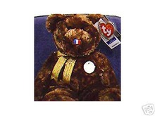 Ty France FIFA Soccer CHAMPION Beanie Buddy Bear