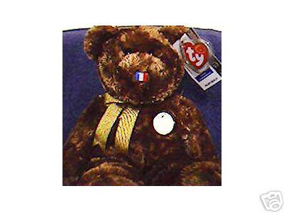 Ty France FIFA Soccer CHAMPION Beanie Buddy Bear