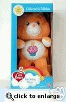 BIRTHDAY Plush Care Bear in Box~COLLECTOR'S EDITION~20th Anniversary
