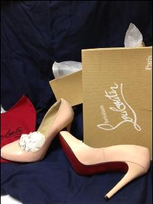 NEW! Christian LOUBOUTIN Nude Pumps Sz 39 Boxed-Replica