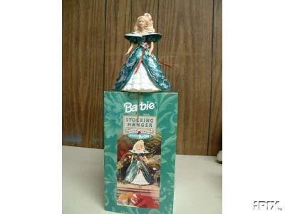 Happy Holidays BARBIE Stocking Hanger Hallmark 1996