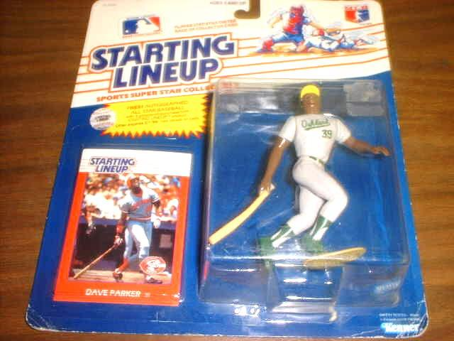 1988 Dave Parker A's Reds Rookie STARTING LINEUP Figure