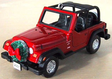 JEEP WRANGLER Sport 4.0 L 2001 Hallmark 60th Anniversary Christmas Ornament