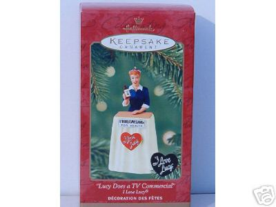 I LOVE LUCY Does TV Commercial Hallmark Ornament 2001