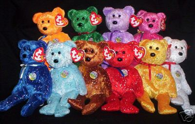 Ty DECADE Set Teddy Bear Beanie Babies ALL 10