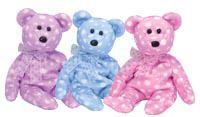 Ty *TOAST * FIZZ & BUBBLY* Trio Beanie Babies