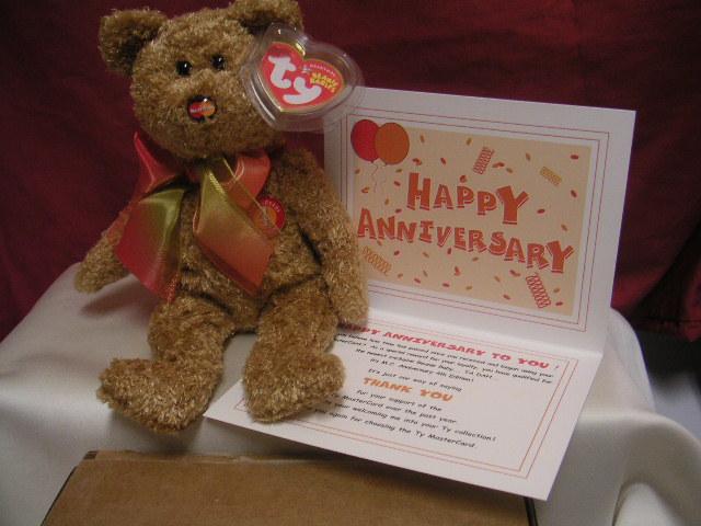 Ty M.C. Anniversary 4th Edition MASTERCARD Beanie +CARD