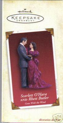 SCARLETT & RHETT Gone with the Wind Hallmark 2005