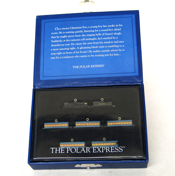 POLAR EXPRESS Train Set of 7~Hallmark 2005 Miniature Christmas Ornaments