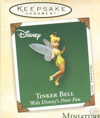 TINKER BELL Hallmark 2003 Miniature Ornament