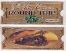 POLAR EXPRESS Gold Hologram ROUND TRIP TICKET ~Hallmark Bookmark