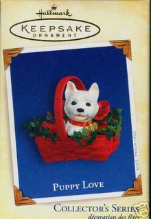PUPPY LOVE  #15 Hallmark 2005 Christmas Ornament WESTIE Dog