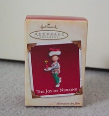 THE JOY OF NURSING NURSE ORNAMENT  Hallmark 2005