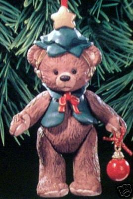 GIFT BEARERS #1 Porcelain Bear Hallmark Ornament 1999