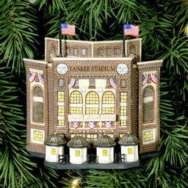 YANKEE STADIUM  Lighted Ornament Department 56 New York