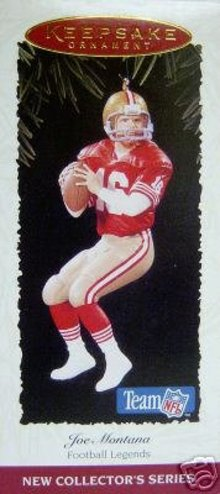 Joe Montana SAN FRANCISCO Giants Hallmark Ornament 1995