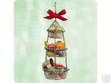 Hallmark Delicious Christmas Hanging Wire Baskets 2003 Ornament