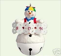 2005 SON Snowman Bell Hallmark Ornament~IT RINGS!!