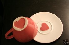 STARBUCKS Set of 2 Valentine CUPS & SAUCERS New 2006