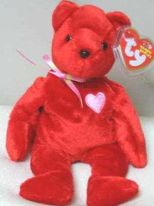KISS-e Ty Beanie Baby Valentine Bear Retired