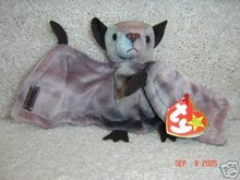 TY Batty Ty-dye Bat Halloween Beanie Baby