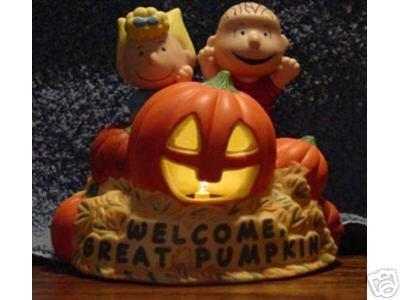 Peanuts The Great Pumpkin LIGHTED Figurine Numbered Ed. Hallmark